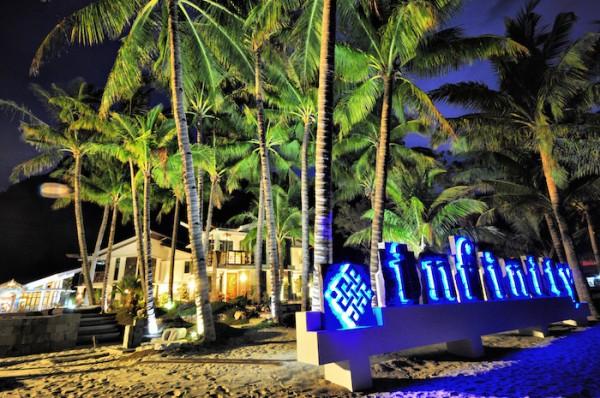 Infinity Resort Beach front at night