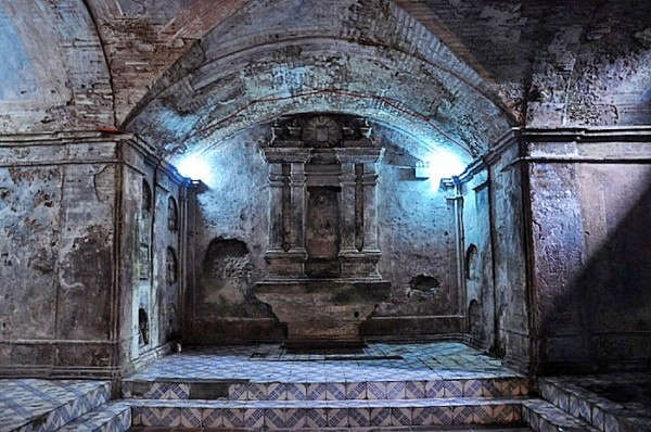Inside Nagcarlan Underground Cemetery