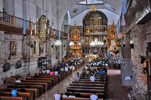 Inside the Parish Church of San Gregorio Magno