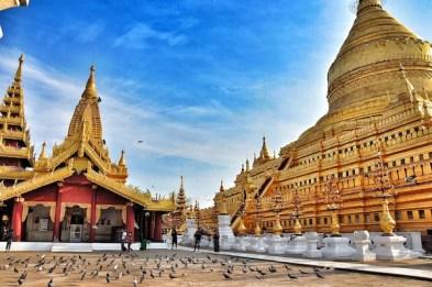 The Shwezigon Pagoda in Old Bagan