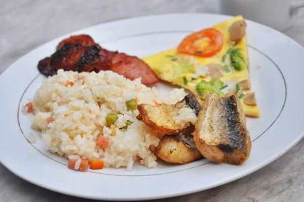 Breakfast at the resort