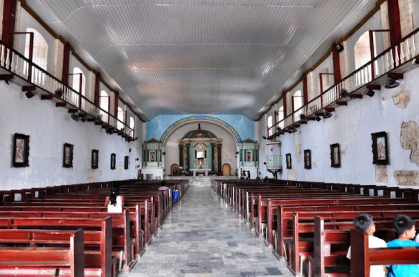 Inside Bolinao Church