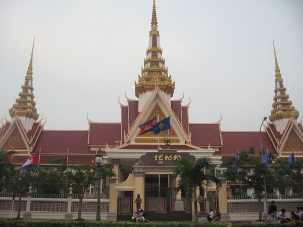 The National Assembly building of Cambodia by Kiensvay