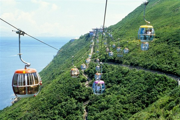 Cable Car in Hong Kong