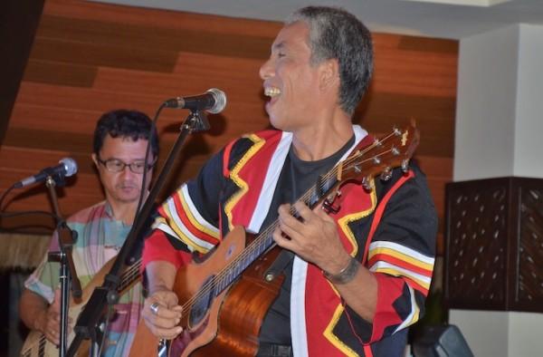 Joey Ayala performing at South Palms Beach Resort
