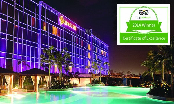 Maxims Hotel wins TripAdvisor 2014 Certificate of Excellence