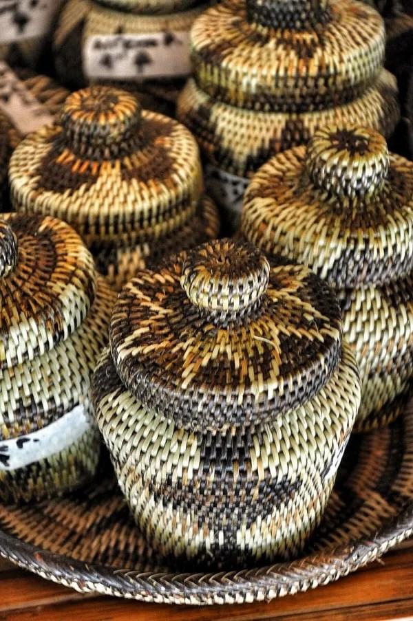Nito Weave Decorative Jars