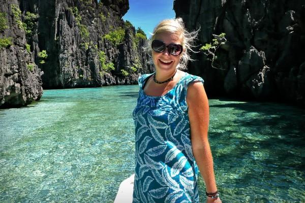 Sabrina Iovino in El Nido Palawan