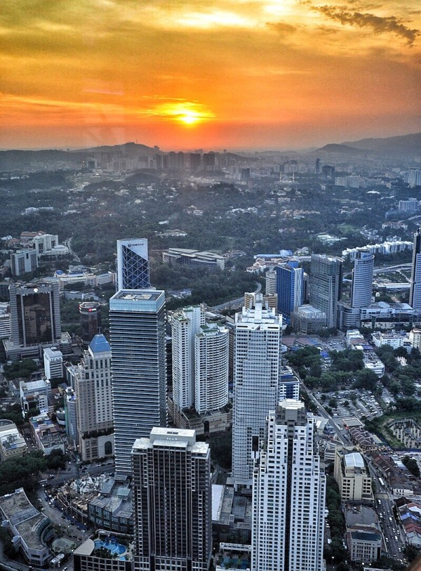 Sunset View from KL Tower