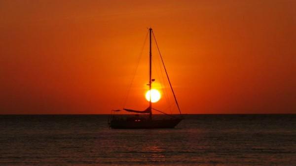 Sunset in Binucot Sunset Cove Resort
