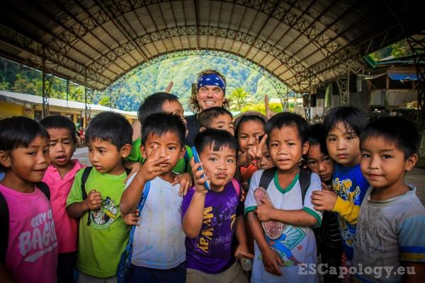 Friendly village kids somewhere around Batad - The Philippines