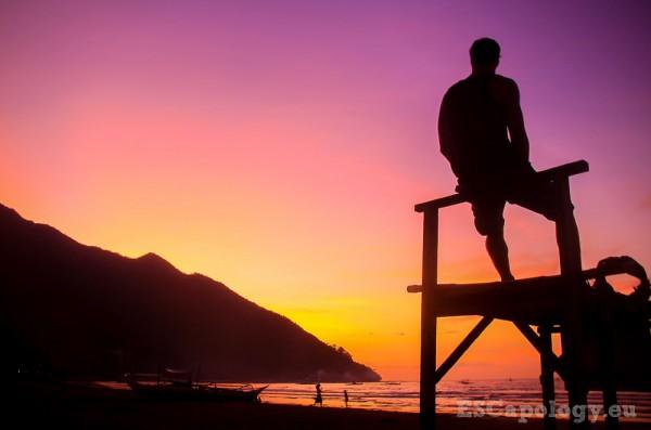 Serenity on the beach at Sabang, Palawan