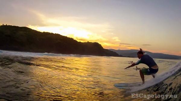 Surfing a secret break on Catanduanes