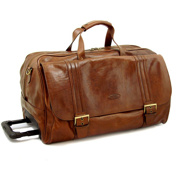 Wheeled Leather Bag by Holdall