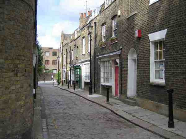 Little Green Street London (photo by Nigel Cox - From geograph.org.uk via wikipedia)