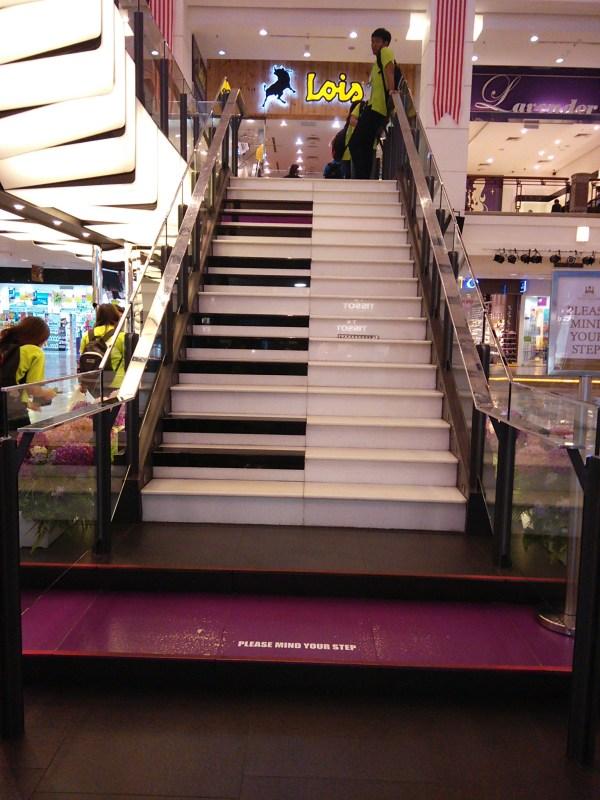 Piano staircase berjaya times square