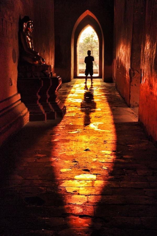 Shadows inside Sulamani Temple