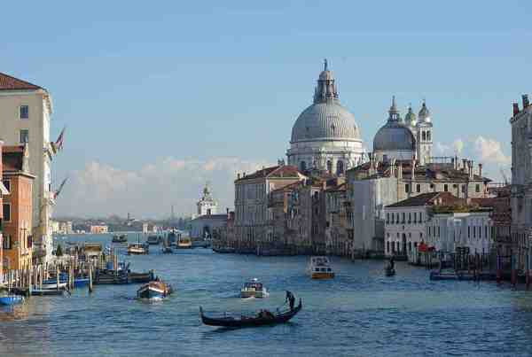 The Grand Canal in Venice (photo by Wolfgang Moroder via Wikipedia)