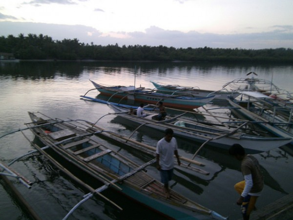 Boats for Firefly tour in Donsol by Mandy via Flickr