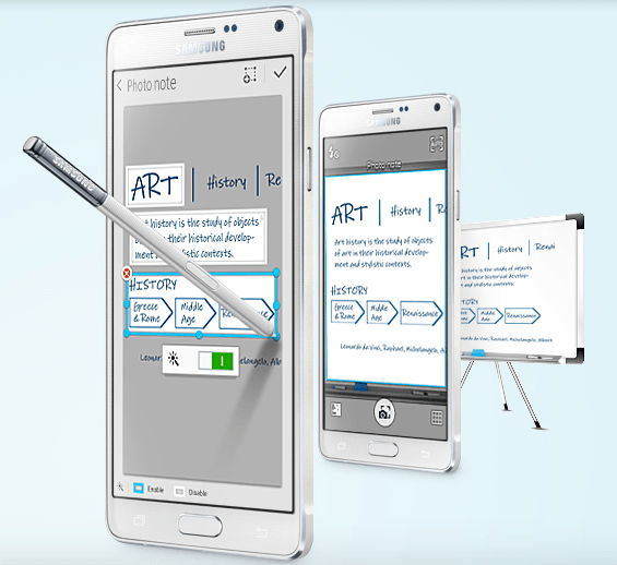 New Photo Note feature of Samsung Galaxy Note 4