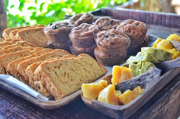 Squash Bread with Honey Spread, Mango Spread and Malunggay Spread