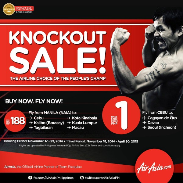 AirAsia Manny Pacquiao Knock Out Sale