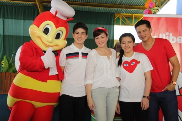 Carmina Villaroel - Legazpi and family