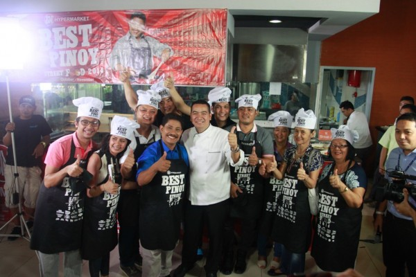 Chef Boy strikes a pose with the first batch of winners.