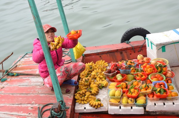 Fruit Peddler at Halong Bay