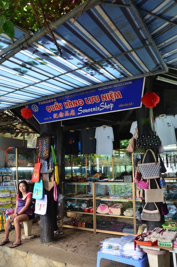 Souvenir Shops at the Exit of Thien Cung Cave