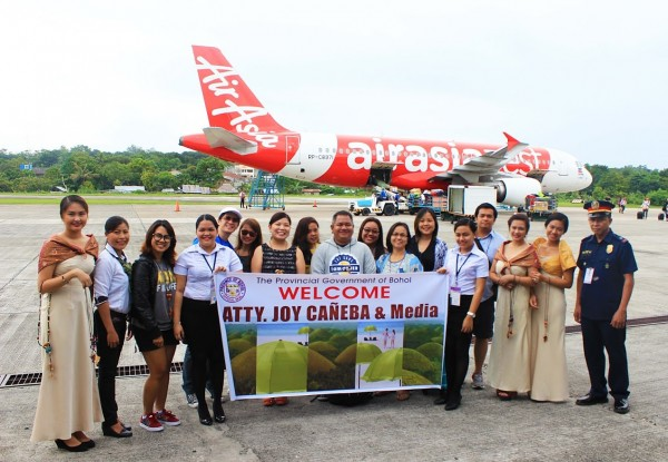The Province of Bohol welcomes Media from Manila and AirAsia Philippines Team