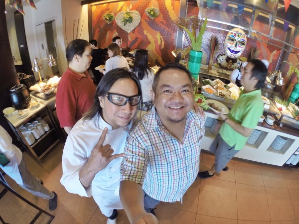 With my Idol Chef Rolando Laudico at Cafe Veranda