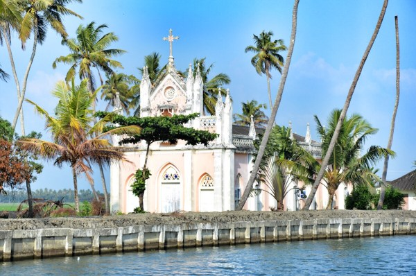 A Church in Kerala Backwaters