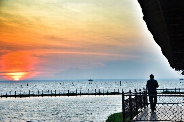 Sunset in Vembanad Lake