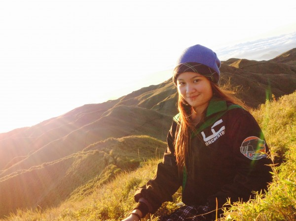 The Author at the peak of Mt Pulag