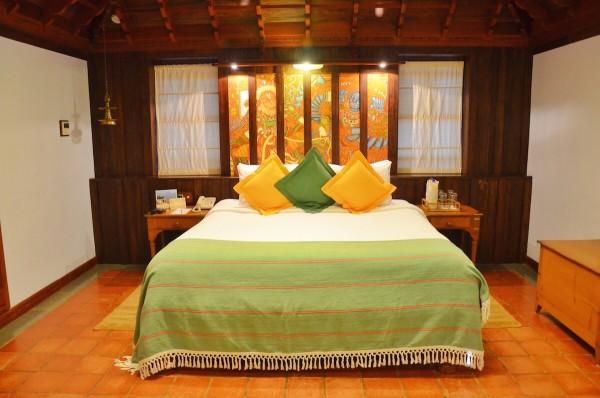 My Bed at Kumarakom Lake Resort