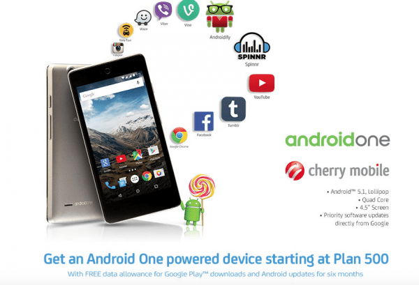 Android One Smartphones will be offered by SMART and SUN Cellular