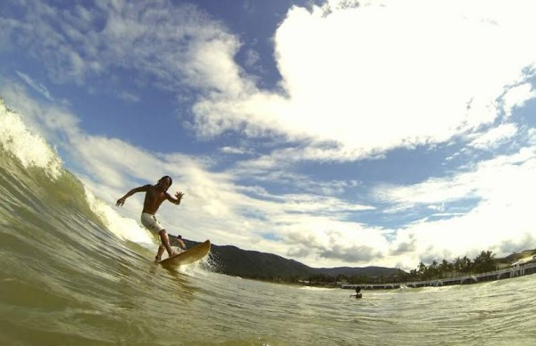 Surfing in Baler photo by Chris Juloya
