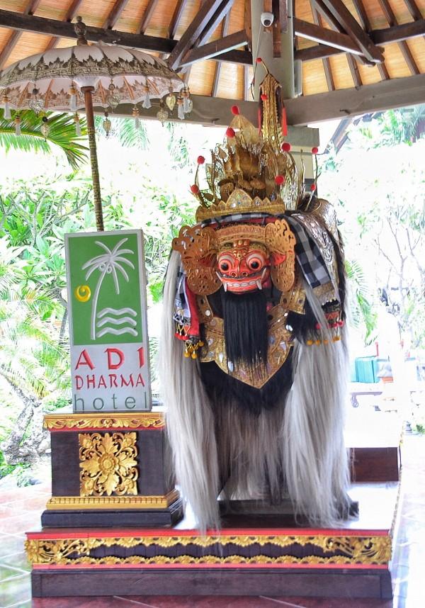 Barong displayed at the lobby