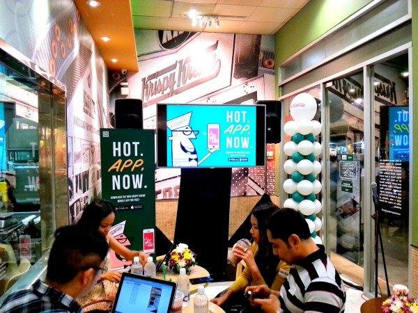 Bloggers at Krispy Kreme store