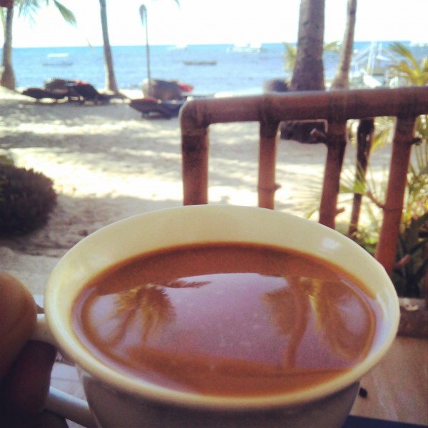 Coffee with this view