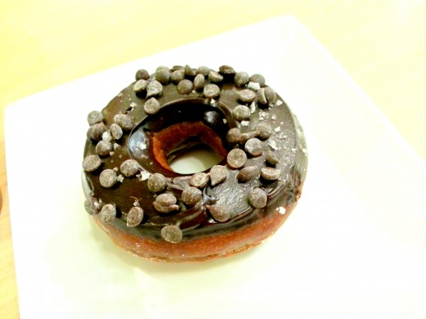 Salted chocolate doughnut