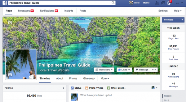 Create a Business Facebook account or Facebook Fan Page