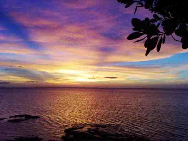 Sunset at Terra Rika Beach and Dive Resort