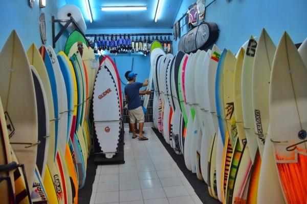 Surf Board Shops in Poppies Lane
