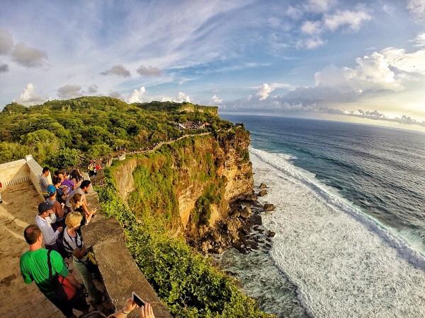 Tourists enjoying the view
