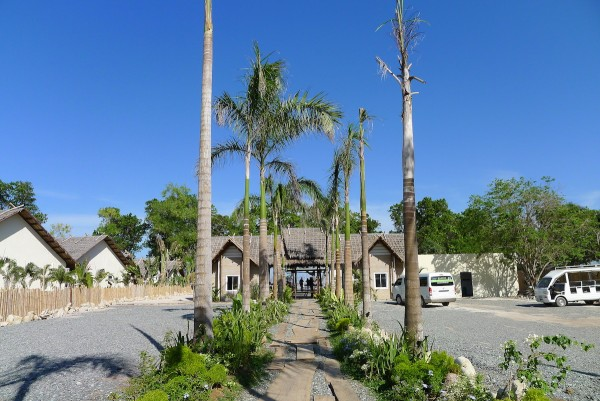 View from the resort's entrance