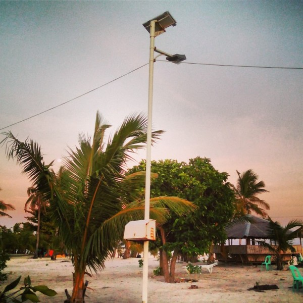 A total of 11 solar lamps in the island