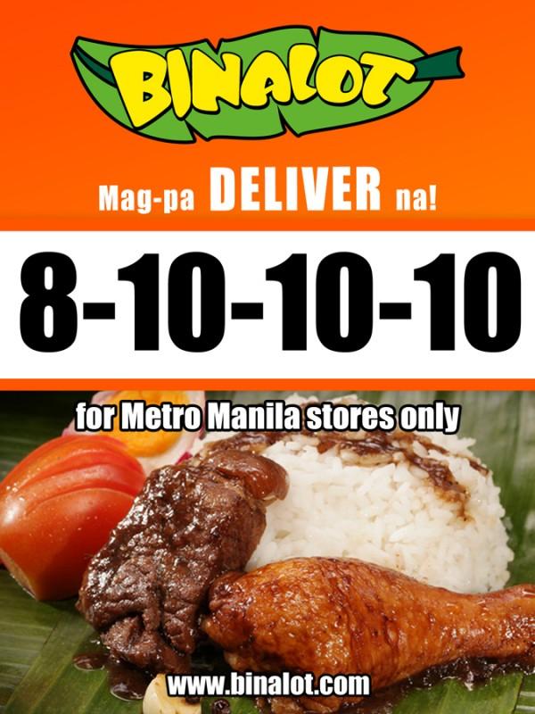Binalot Metro Manila Delivery Hotline