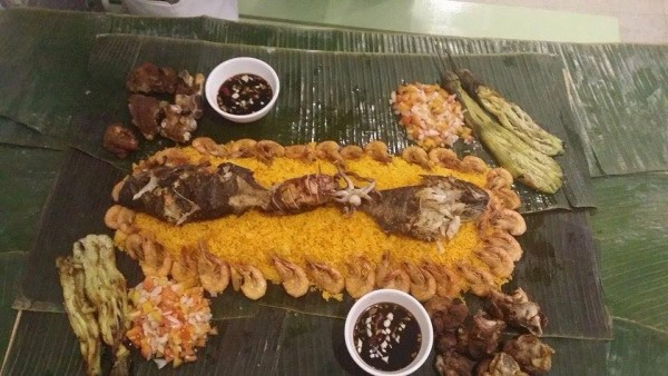Boodle Fight at Jeepney Bistro photo by Jeepney Bistro FB